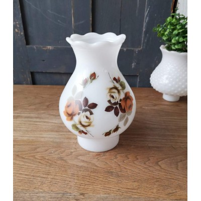 Globe vintage automne Milk Glass