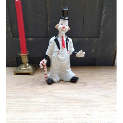 Bibelot porcelaine nacrée le clown candy