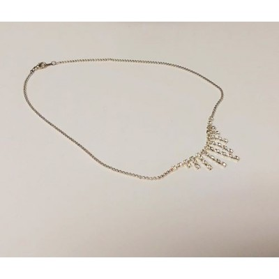 Collier pierres scintillantes, chaîne mini bille