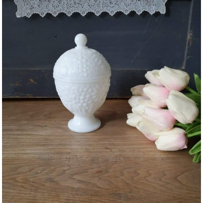 Milk Glass Avon vintage Candy Dish