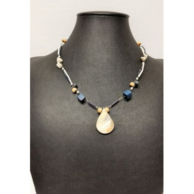 Collier vague bleu