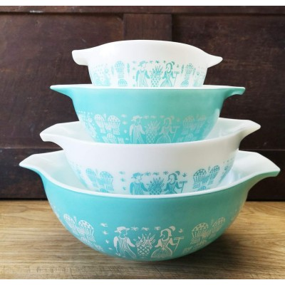 Pyrex Amish Butterprint vintage ensemble de 4