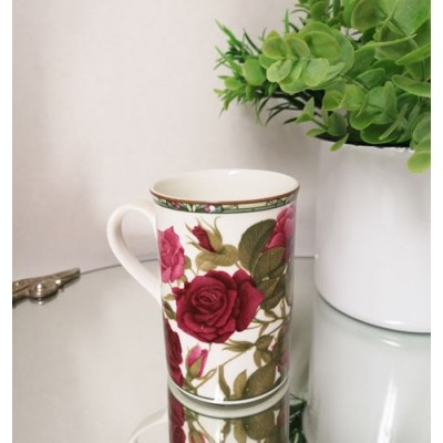 Tasse porcelaine Roses Royal rose