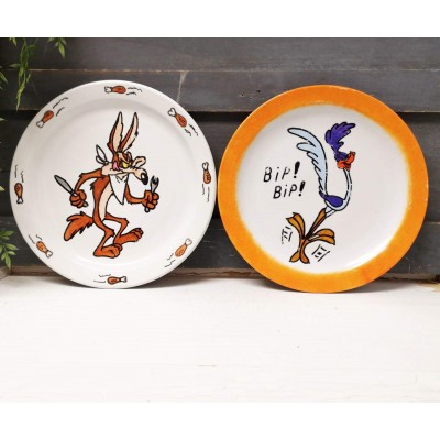 Assiettes duo The Road Runner Bip Bip et Coyote