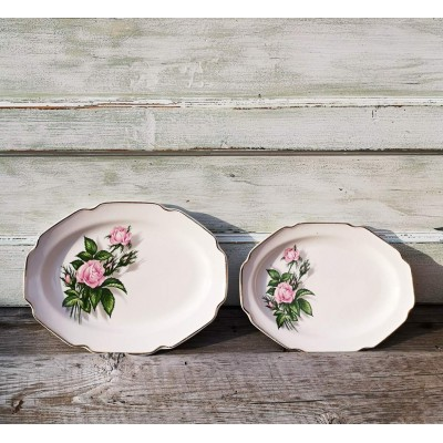 Assiettes de service Royal Rose porcelaine