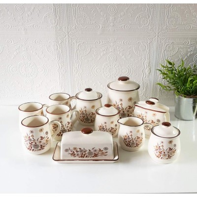 Ensemble céramique marguerite du Japon (11 pcs)