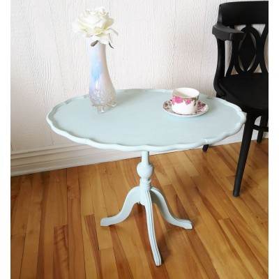 Table festonnée bleu serenity