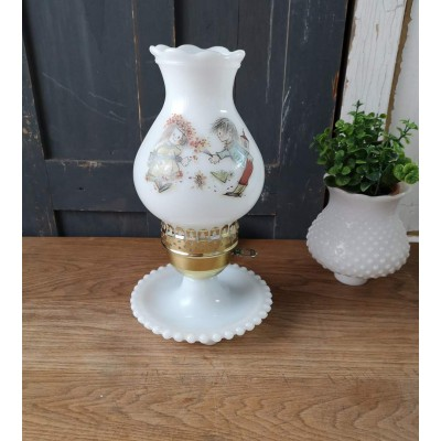 Lampe Salomé Milk Glass vintage