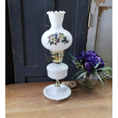 Lampe Lily Milk Glass vintage