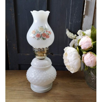 Lampe Roseline Milk Glass vintage