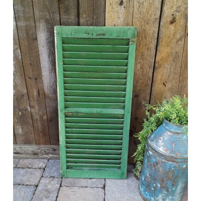 Persienne antique verte latte de 1,5 po