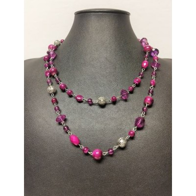 Collier bille mauve