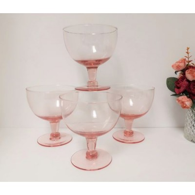 Coupes rose vintage cristal chantant (4mcx)