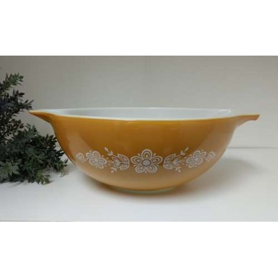 Grand Bol gold pyrex Butterfly