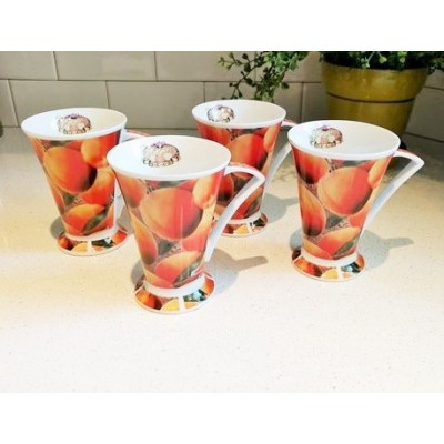 Tasses Vogue porcelaine (4 pcs)