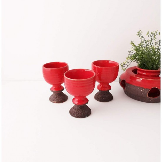 Coupes vintage Fat Lava rouge Laurentienne (3 pcs)