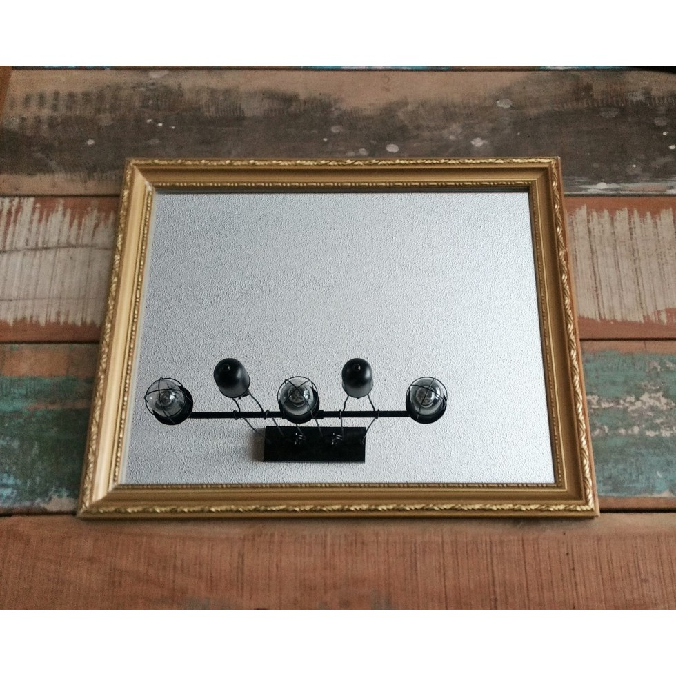 miroir carr cadre dor. Black Bedroom Furniture Sets. Home Design Ideas