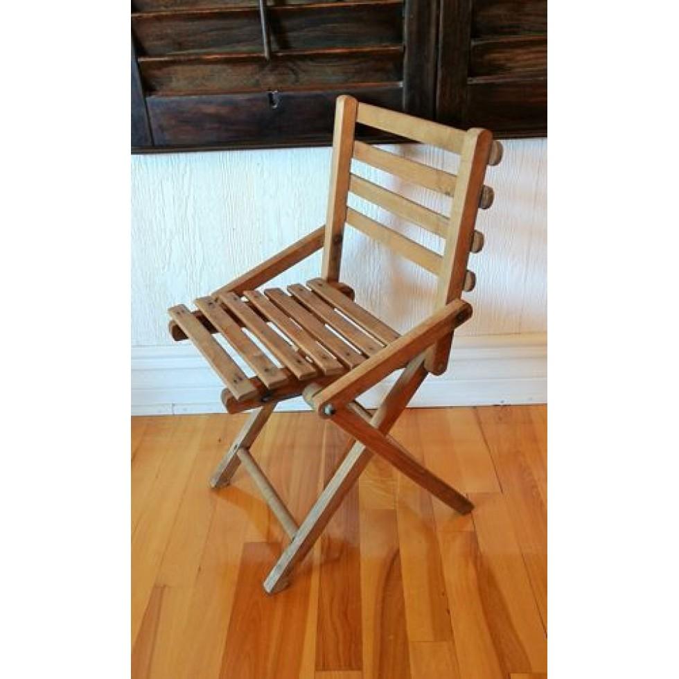 chaise pliante en bois pour enfant. Black Bedroom Furniture Sets. Home Design Ideas
