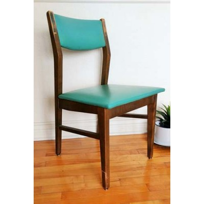 Chaise Henderson vintage vinyle turquoise