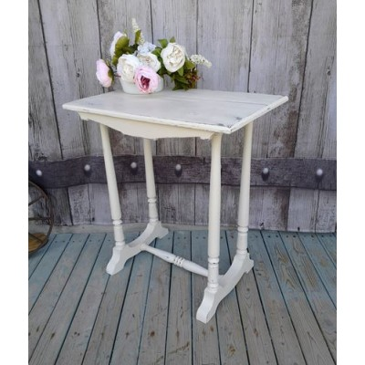 Table console blanche antique