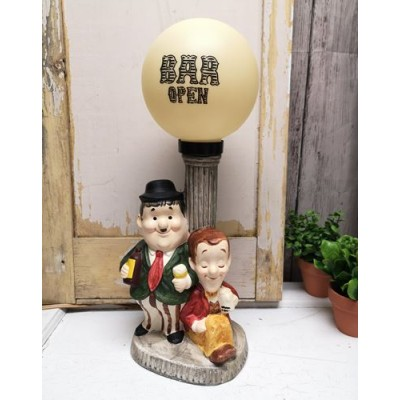 Lampe Laurel & Hardy vintage Harmon Pictures Corp
